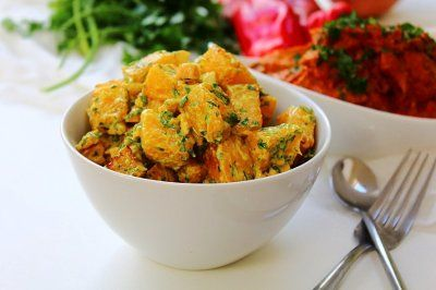 "Bombay ""Potato"" Salad - uses swede or turnip instead of potato, sounds delicious"