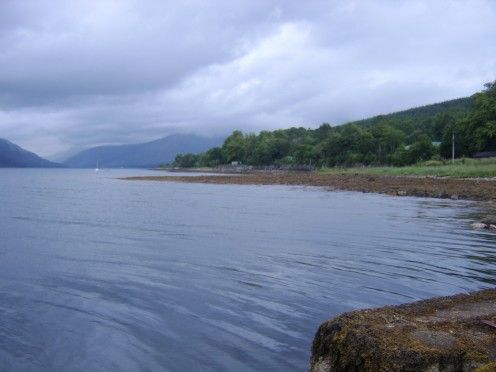 Looking towards the Head of Loch Fyne, Scotland from the Jetty at St Catherines