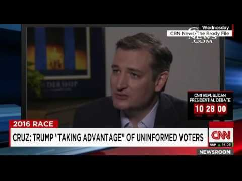 """Candidate Ted Cruz Calls Trump Supporters """"Low Information"""" and """"Not Engaged""""…