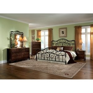 Standard Furniture Santa Cruz Metal Bedroom Set In Lexington Cherry Rutice