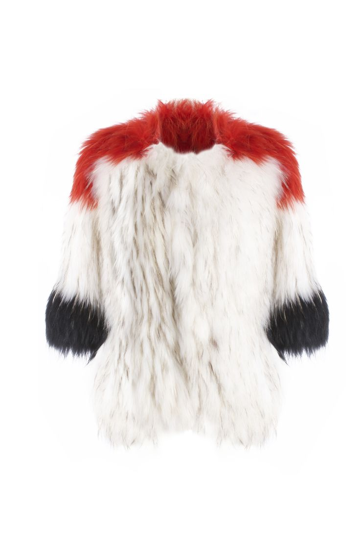 Agatha coat - Red              Raccoon fur shop online in www.beniroom.com