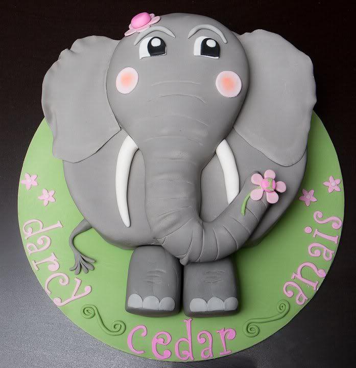 Elephant Cake Designs : Jungle Babies Elephant Cake Photo: This Photo was uploaded ...