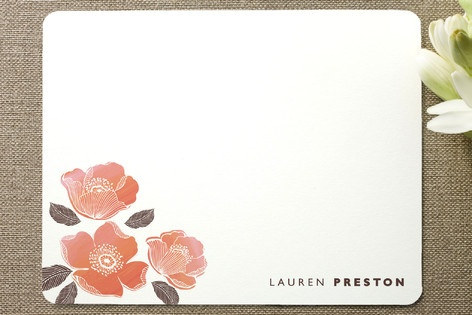 English rose Personalized Stationery by Gakemi Art+Design at minted.com