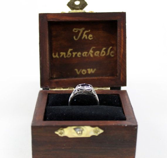 Have you found yourself a keeper? Are you ready to make the unbreakable vow? Then do it with this Hogwarts themed Harry Potter ring box.  All of