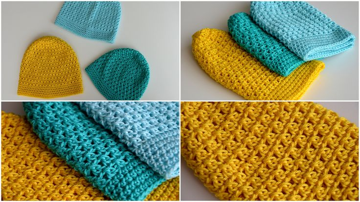 Summer trio crochet hats