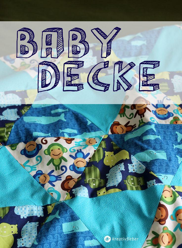 Wir zeigen euch eine einfache Schritt für Schritt Anleitung für eine Babydecke aus Patchwork mit Dreiecken. Eine schöne Nähidee und ein tolles Geschenk !