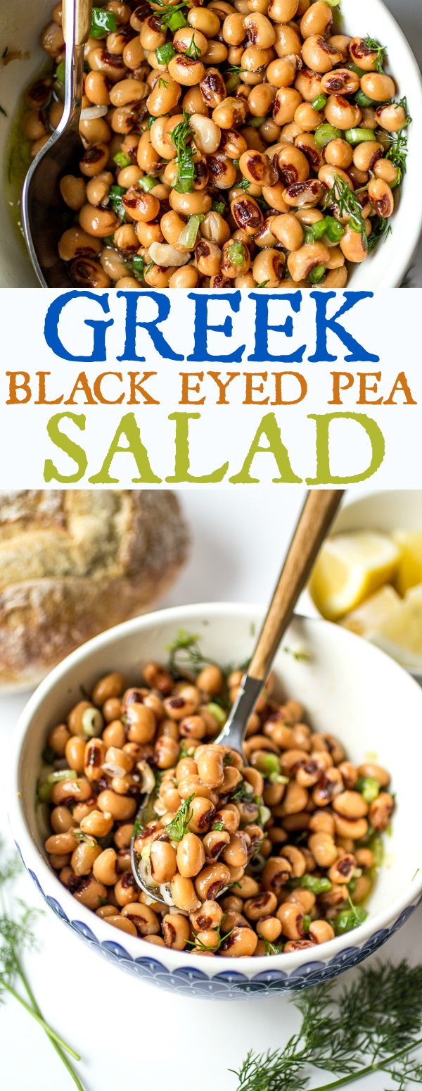 Bright lemon juice quality olive oil and fresh dill transform a can of black eyed peas into an inspiring salad!