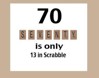 70th Birthday Card Milestone Scrabble The Big 70 In 2019