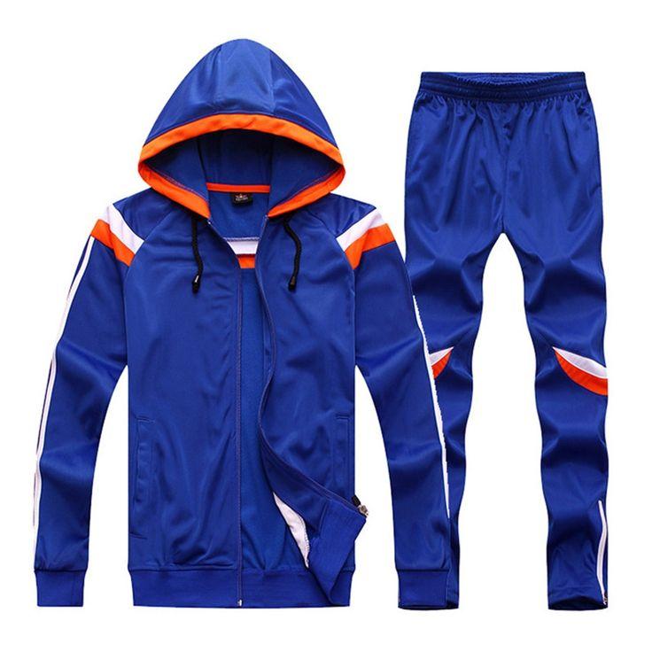 65.00$  Buy now - http://alixyi.worldwells.pw/go.php?t=32749421118 - 2017 New Winter Men Women Soccer jerseys Long Sleeve Training Pants set Survetement Football trousers Jacket Shirts hooded