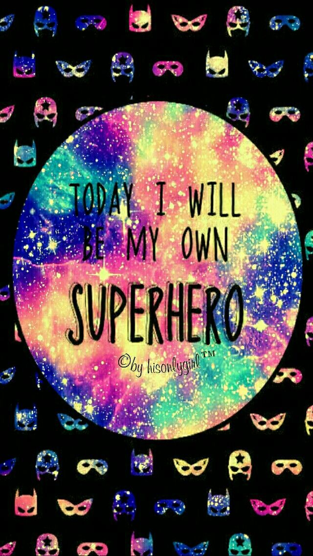 Superhero galaxy iPhone & Android wallpaper I created for the app CocoPPa!