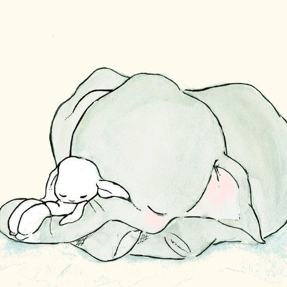 I had a bunny and elephant soft toy when I was little and they were my favorite. This brings back old memories... :)