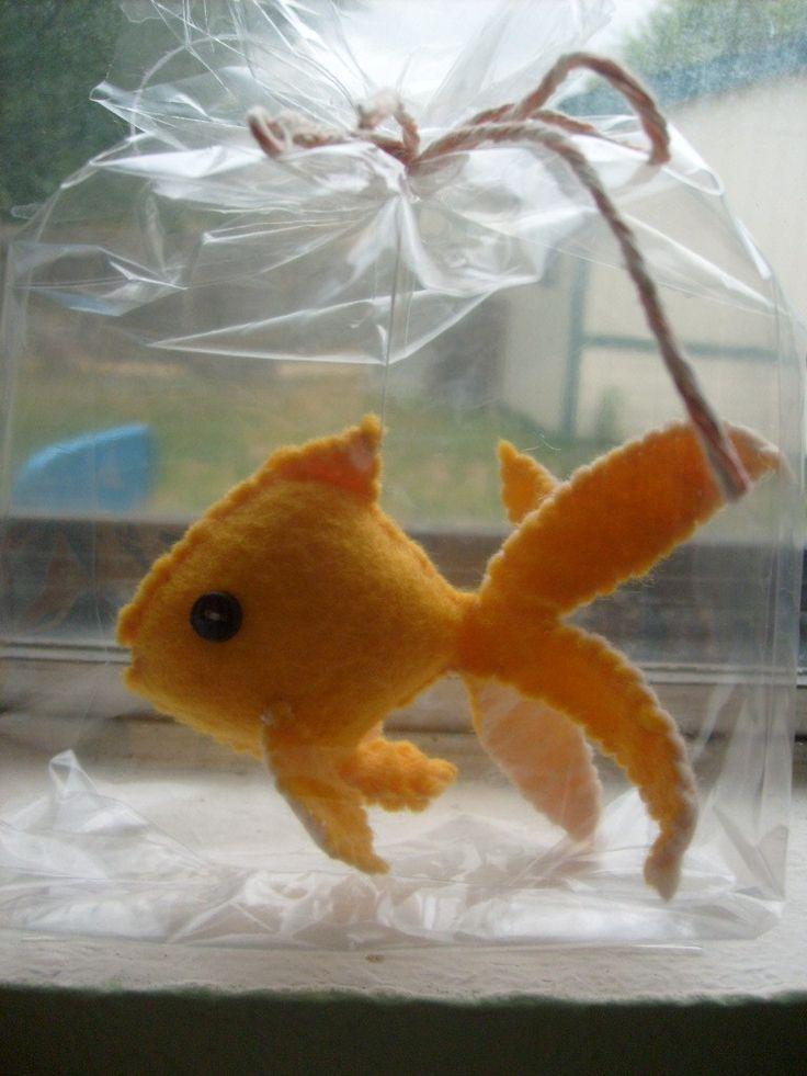 felt goldfish - cat toy for B to sew