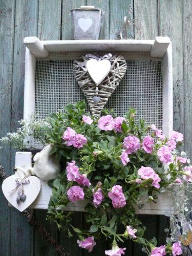 *** Weisses REGAL ***aus Pflanzkiste Draht Holz Kiste Shabby Chic Vintage Style! | eBay