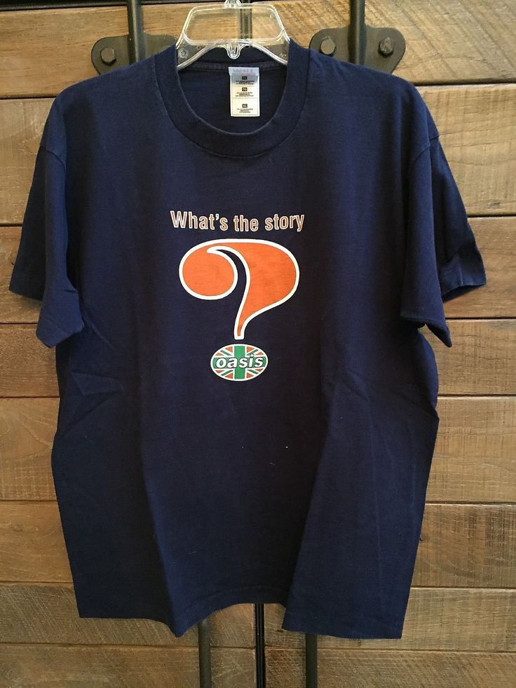 OASIS What's The Story Morning Glory - original 1996 TOUR tee-shirt - SIZE XL | eBay