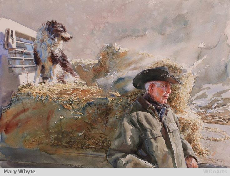 Artist Painter Mary Whyte Wooarts Watercolor Painting border=