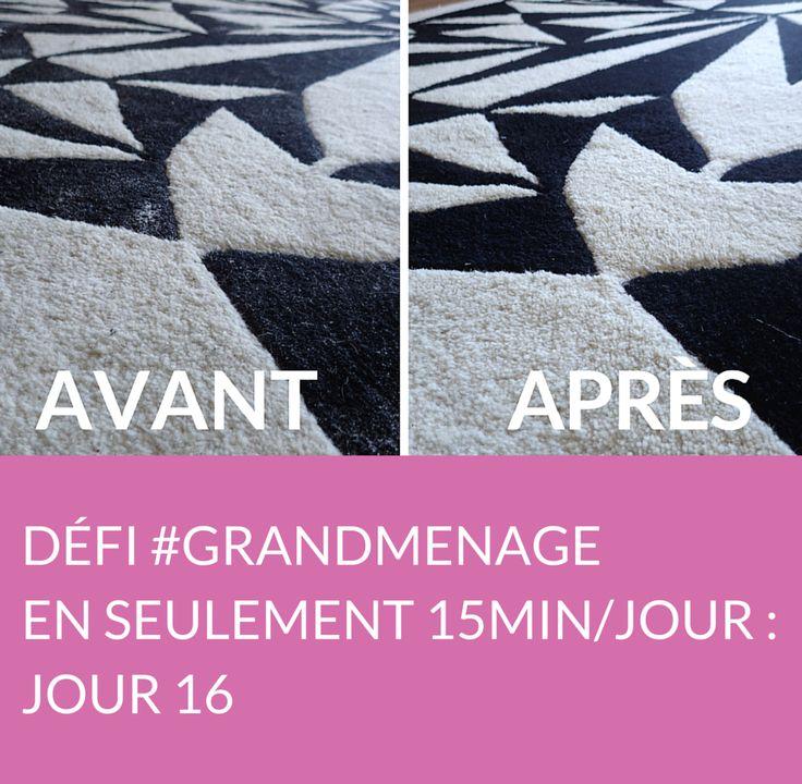 Jour 16 du défi #GRANDMENAGE : il est temps de s'attaquer au nettoyage du canapé et du tapis ! Suivez jour après jour le défi #GRANDMENAGE de la rédac' : http://www.deco.fr/nettoyage/actualite-769410-defi-menage-15-minutes.html