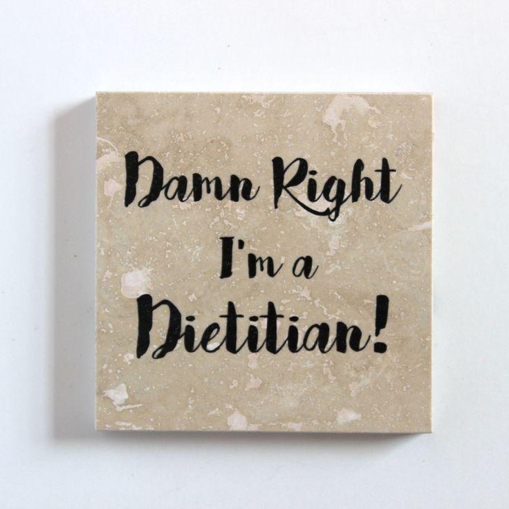 "Custom ""Your Name"" Dietitian Handmade Coaster | Damn Right I'm A Dietitian"