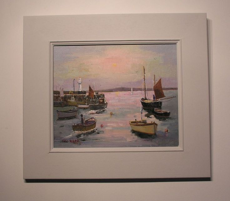 ERIC WARD ' MORNING SUN AT ST IVES HARBOUR'  PAINTING/CORNISH ART/St IVES