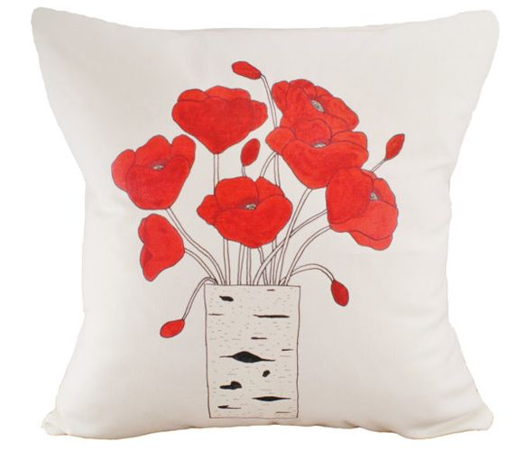 Poppies Cushion Cover - perfect for spring living room refresh