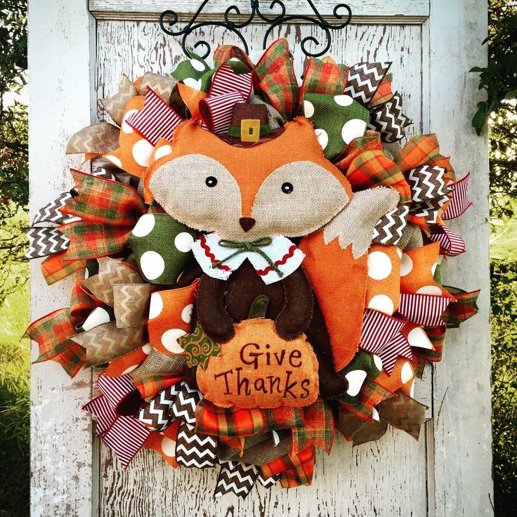 """Foxy Fall Wreath 28"""" **shipping is included in the price"""