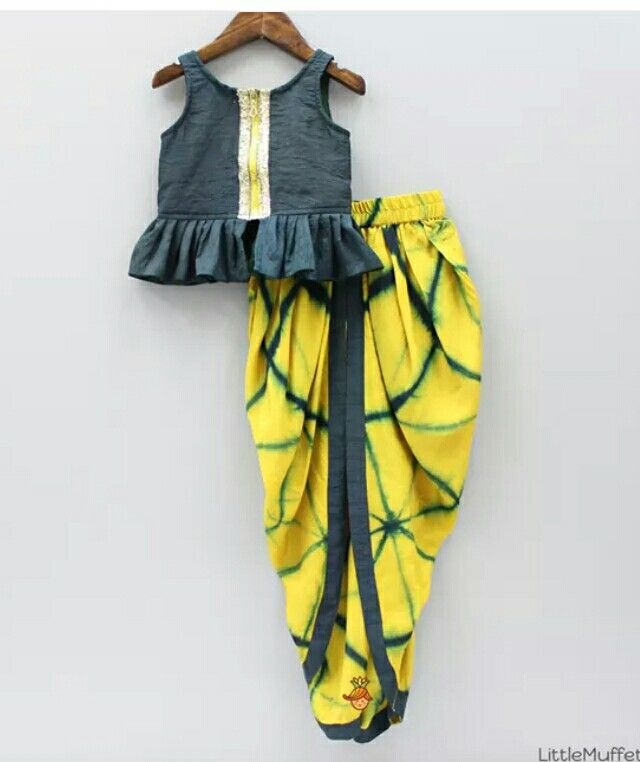Girl dhoti pant with top by little muffet