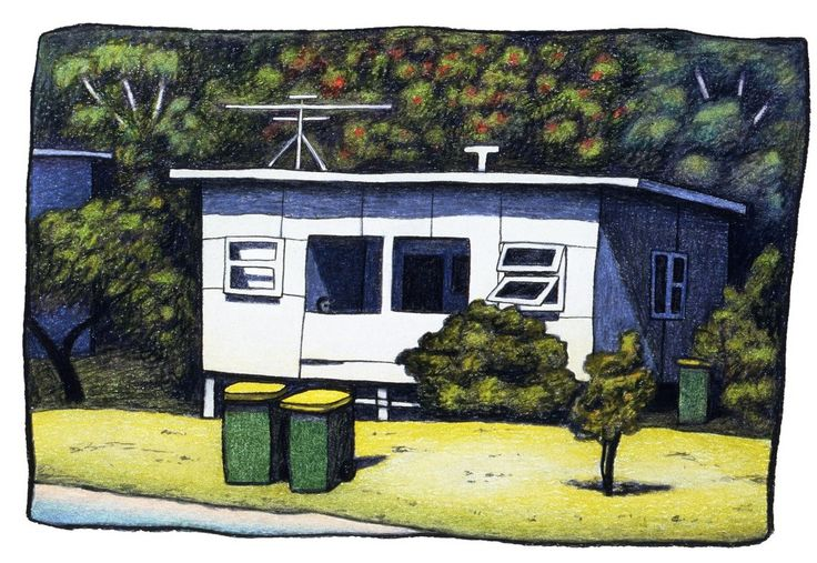 House at Diggers Camp, by Reg Mombassa