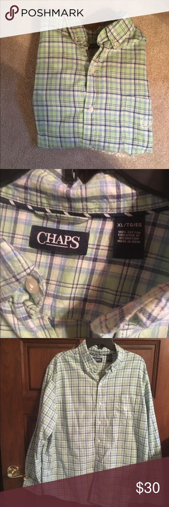 Chaps Like New Button Up Shirt XL Like new Chaps Shirt. Only worn out to dinner a couple times. No holes or stains. From a smoke free home. Size xl. Chaps Shirts Dress Shirts
