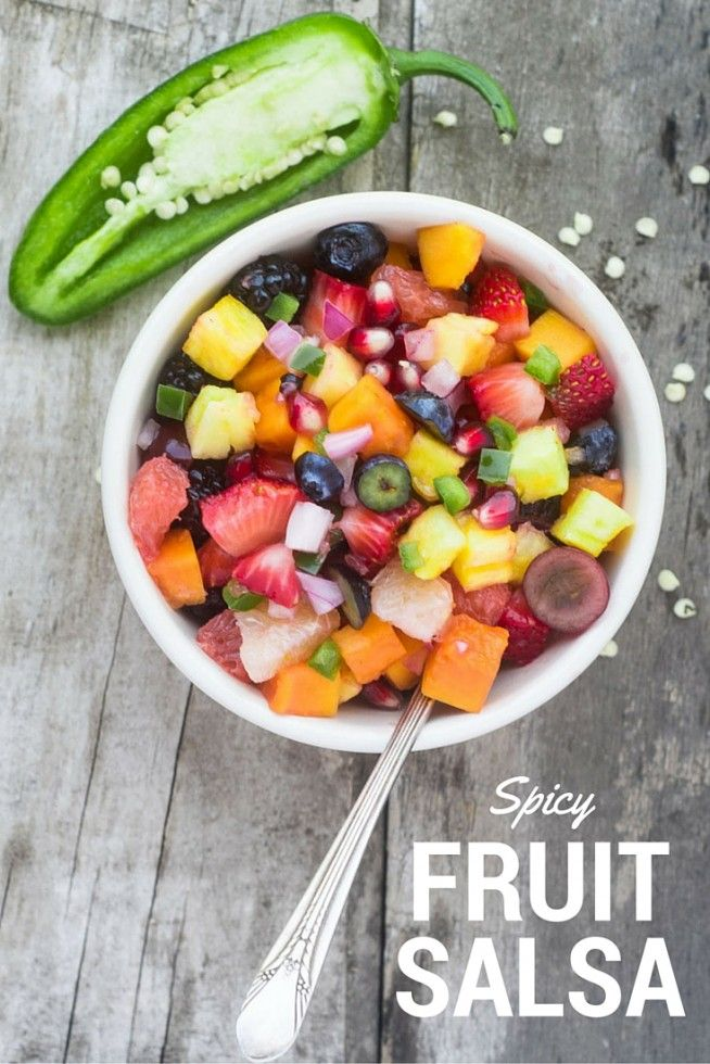 Spicy Fruit Salsa | Recipe | Steak tacos, Fruit salsa and ...