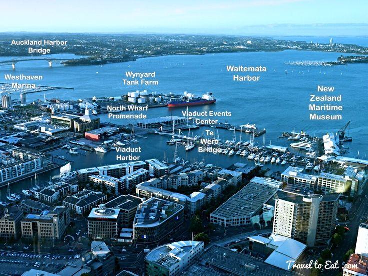 Wynyard Quarter and North Wharf. Auckland, New Zealand