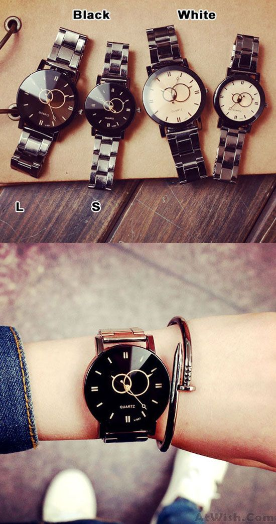 Harajuku Simple Steel Strip Couple Watch Student Quartz watches for big sale! #watch #harajuku #steel