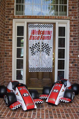 Race Car Party entrance