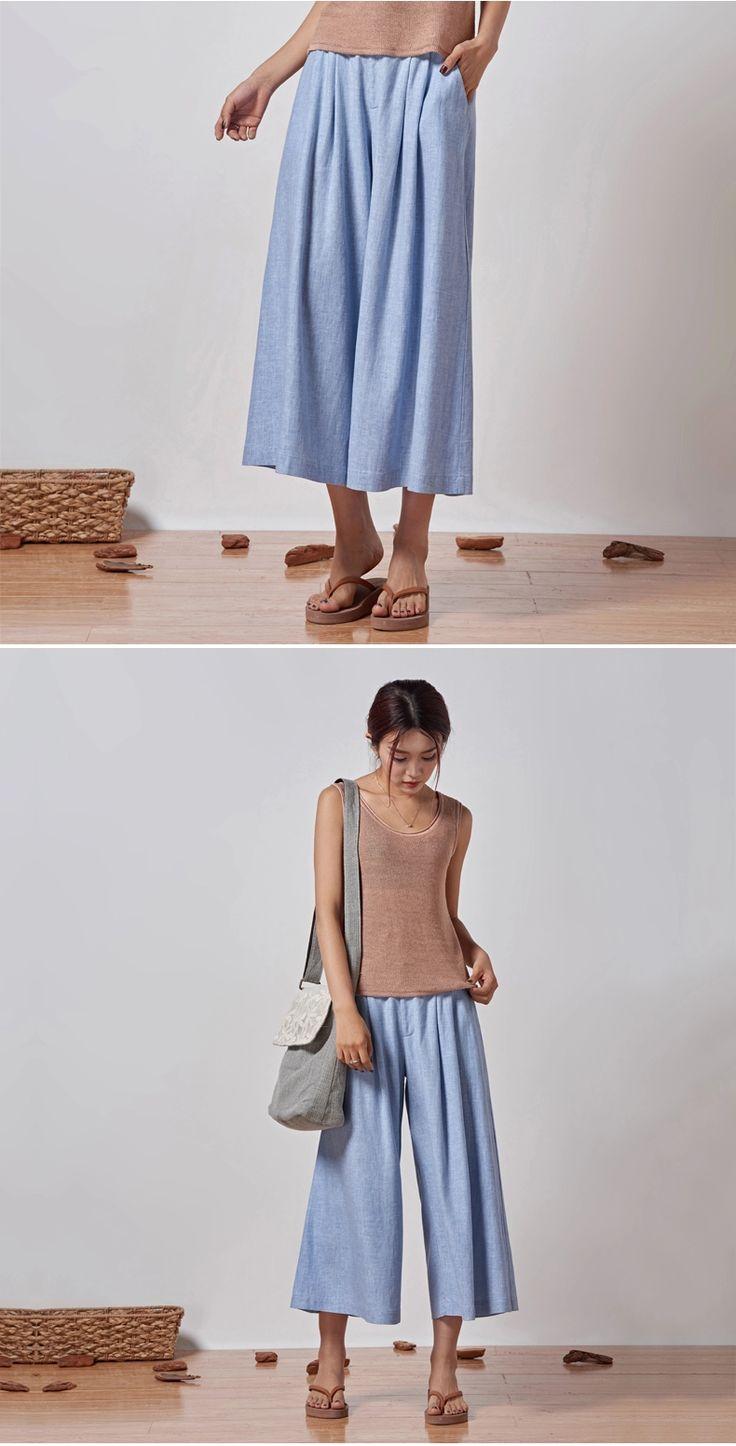 Весна 2015 новые свободные, случайные брюки брюки женский литературный хлопок белье брюки талия широкие брюки ноги -tmall.com Lynx