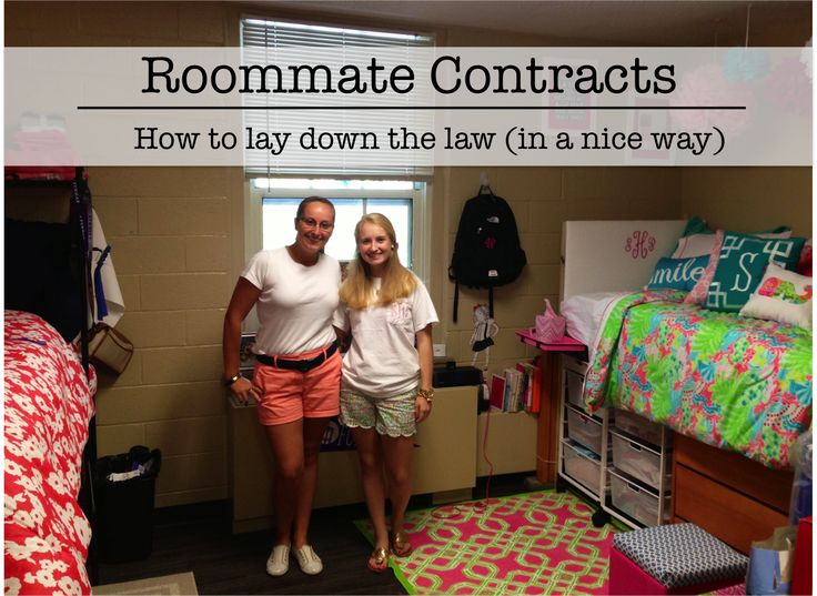 dorm roomie contract