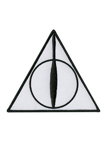Harry Potter Deathly Hallows Iron-On Patch @ niftywarehouse.com #NiftyWarehouse #HarryPotter #Wizards #Books #Movies #Sorcerer #Wizard