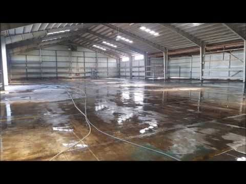 Commercial shed or depot pressure cleaning