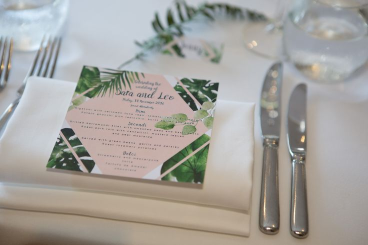 Specially designed menu cards PC: Liv Style photography