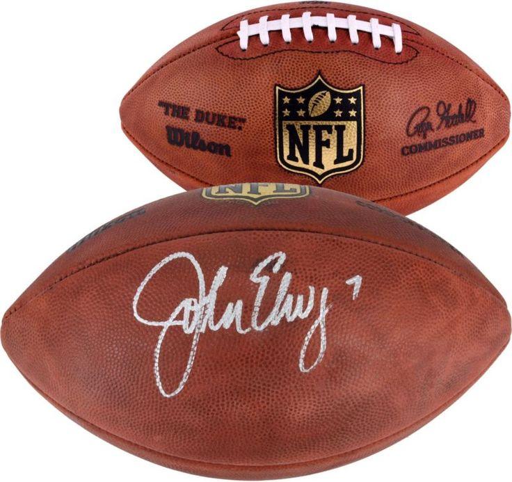 John Elway Denver Broncos Autographed Wilson NFL Football