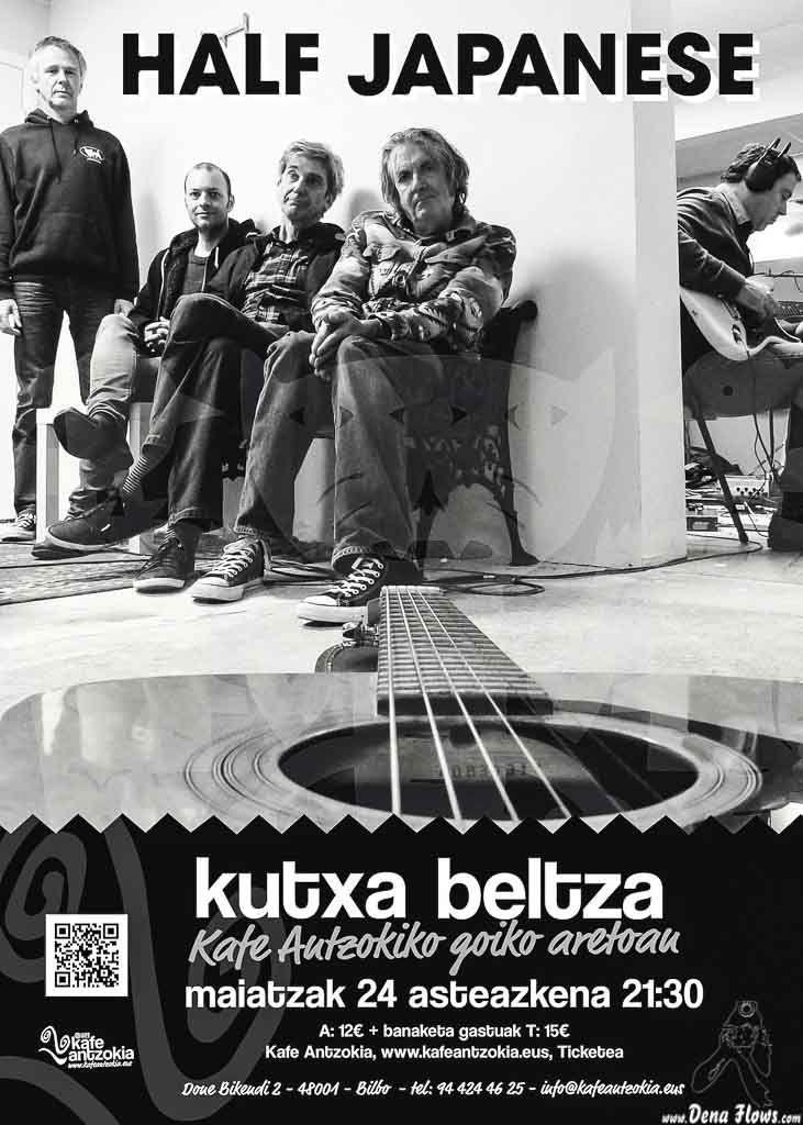 HALF JAPANESE | Kafe Antzokia (Kutxa beltza), Bilbao, 24/V/2017 | Cartel de Half Japanese | GALERÍA completa || Full GALLERY: http://denaflows.com/galerias-de-fotos-de-conciertos/h/half-japanese/