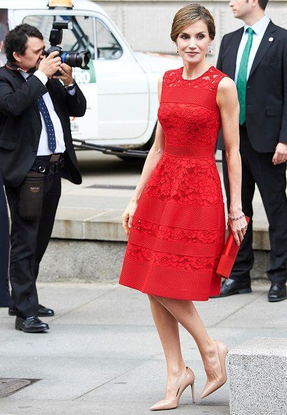 """On June 28, 2017, King Felipe and Queen Letizia attended the 40th anniversary ceremony of the first democratic elections held at the Palace of the Parliament in Madrid, Spain. King Felipe and Letiza visited """"40 years since the first democratic elections"""" exhibition."""