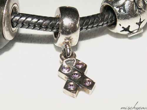 Authentic Pandora Breast Cancer Awareness Pink Ribbon Charm