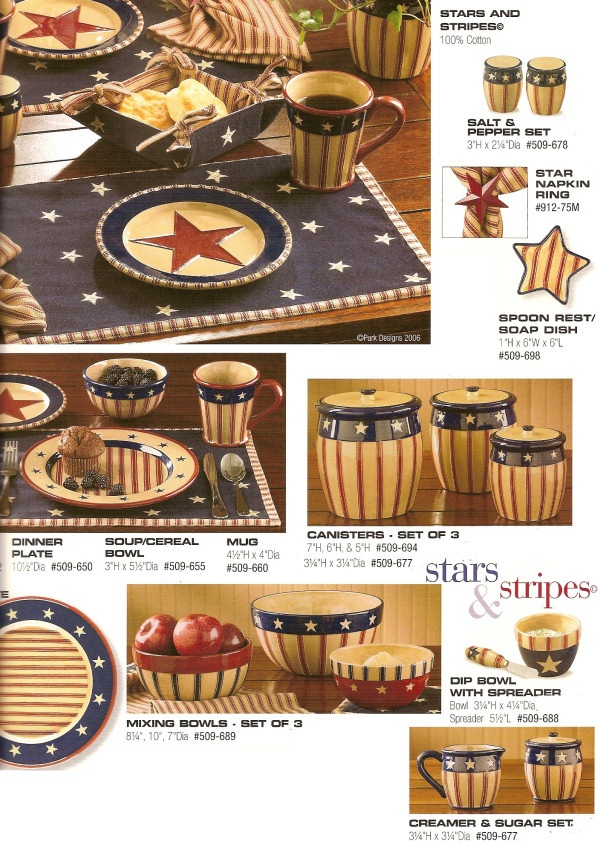 Stars stripes themed kitchen decor for the home Stars and stripes home decor