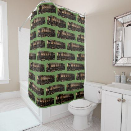 Chicago Union Traction Trolley Train Vintage Shower Curtain - antique gifts stylish cool diy custom