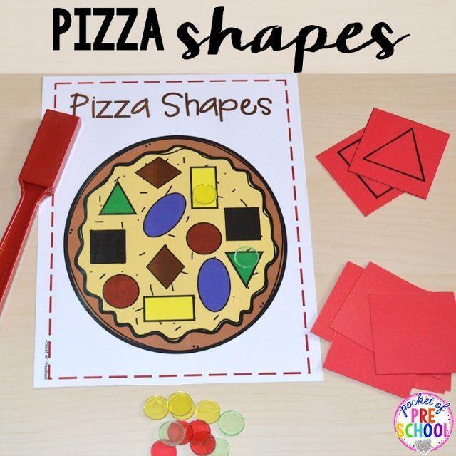 Pizza shape game for Preschool, Pre-K, and Kindergarten