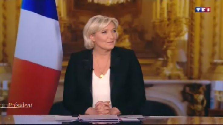 Marine Le Pen fait retirer le drapeau européen lors de sa venue sur TF1