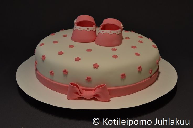 Christening cake for a baby girl