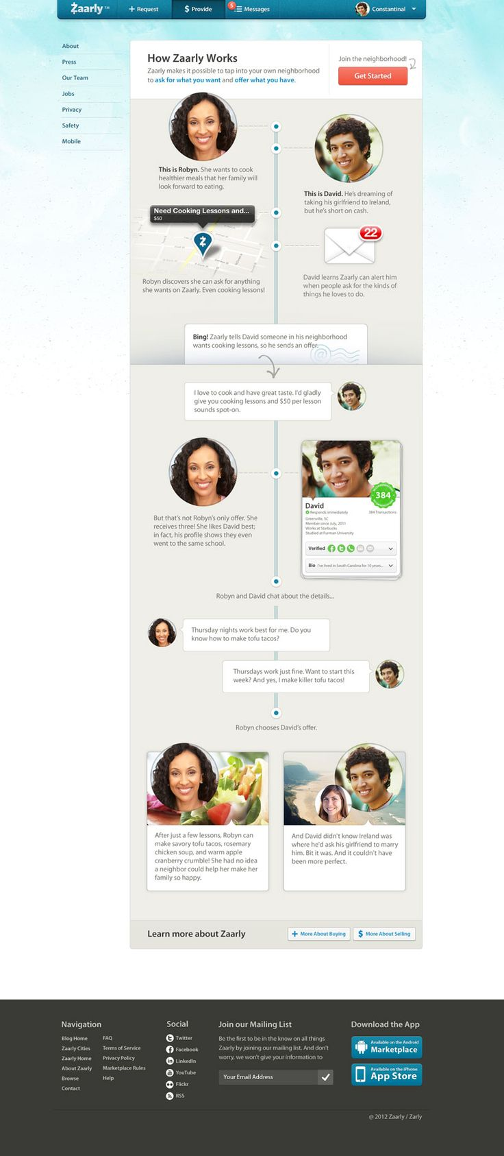 Timeline #ui similar to Facebook, trending in 2012