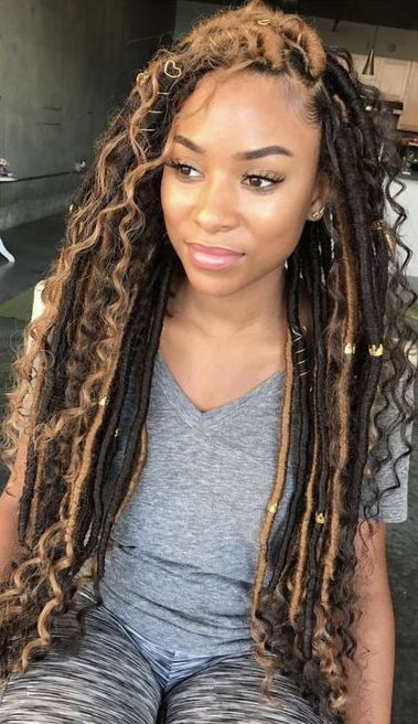 Goddess Locs Styles Faux Locs Hairstyles Hair Styles