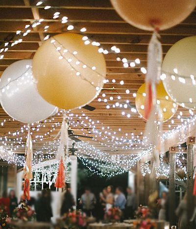 Balloons in wedding reception decor [ BookingEntertainment.com ] #BridalShower #events #entertainment