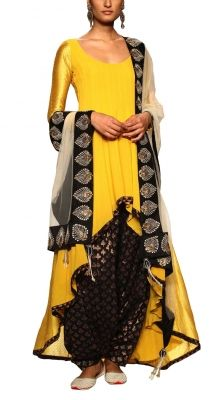 Noor Salwar Suit | Payal Singhal I like how the high-low hemline emphasizes the salwar pants' poofiness