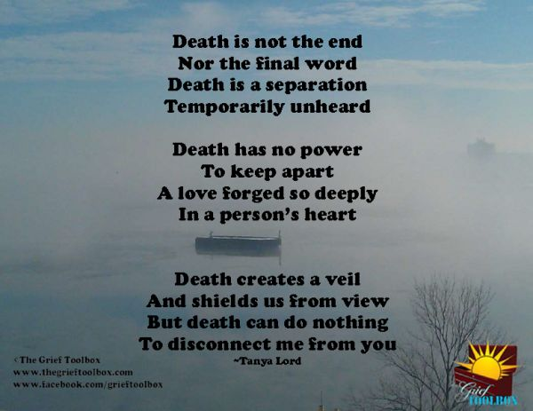 Death is not the end - A Poem | The Grief Toolbox | Grief ...